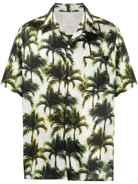 Koszula krótkie z krótkim rękawem klasyczna z nadrukiem Buscemi