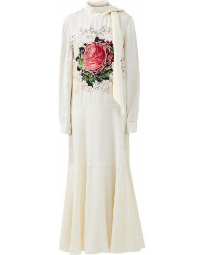 Кружевное платье - бежевое Valentino