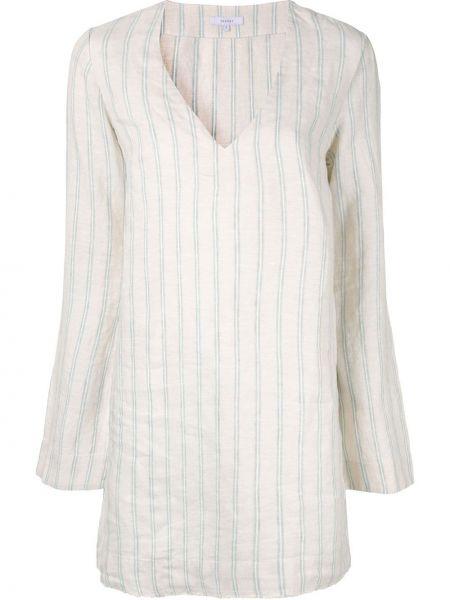Пляжное льняное платье мини на молнии Venroy