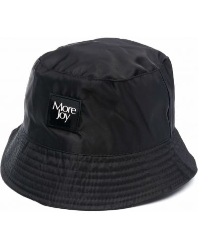 Czarny kapelusz z nylonu plaski More Joy
