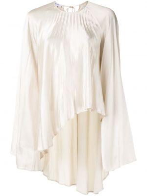 С рукавами белая блузка из вискозы Beaufille