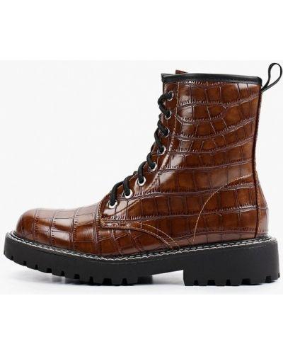 Коричневые кожаные ботинки Ideal Shoes®