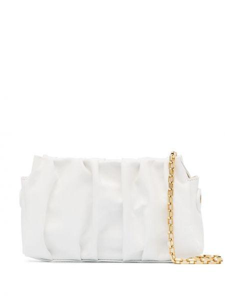 Biały skórzana torebka z prawdziwej skóry Elleme