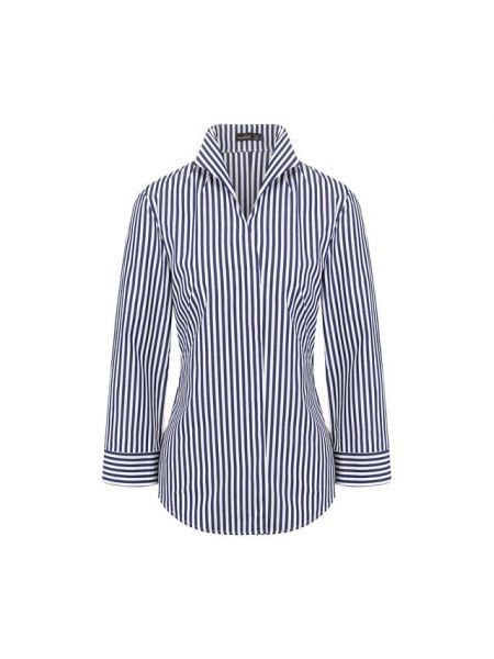 Хлопковая синяя рубашка Van Laack