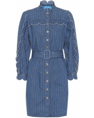 Джинсовое платье с нашивками Mih Jeans