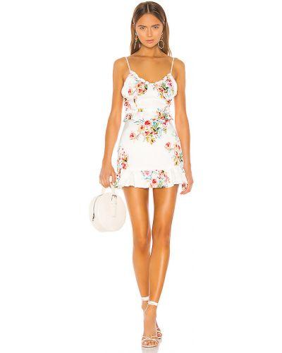 Z paskiem sukienka mini z zamkiem błyskawicznym na paskach z wiskozy Majorelle
