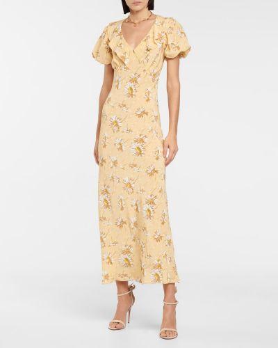Żółta sukienka z jedwabiu Rodarte