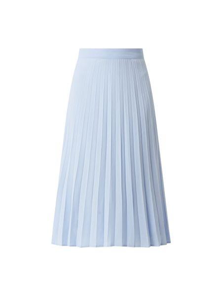 Satynowa niebieska spódnica midi rozkloszowana Esprit Collection