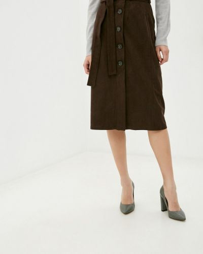 Коричневая кожаная юбка Marks & Spencer