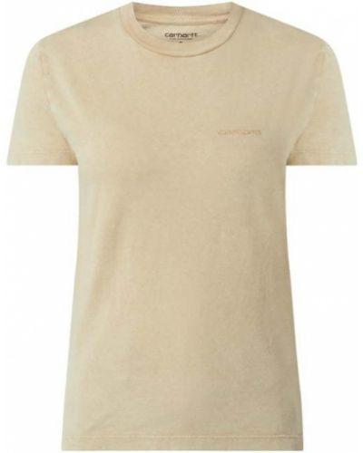 T-shirt bawełniana - brązowa Carhartt Work In Progress