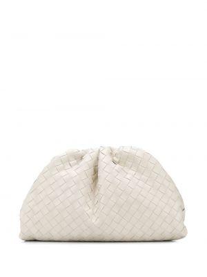 Kopertówka skórzana - biała Bottega Veneta