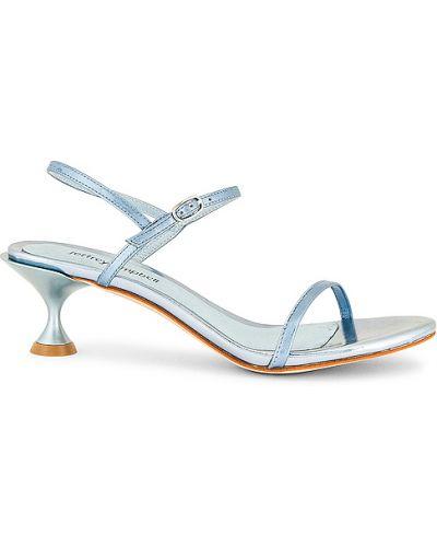 Sandały skórzane na obcasie - niebieskie Jeffrey Campbell