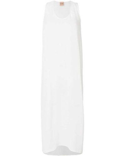 Платье миди мини с вырезом шелковое Nude