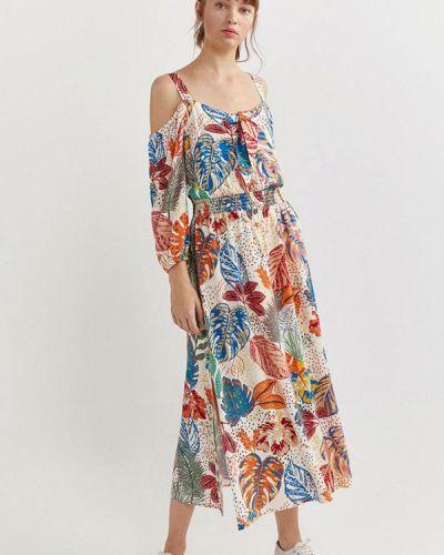 Разноцветное платье Springfield