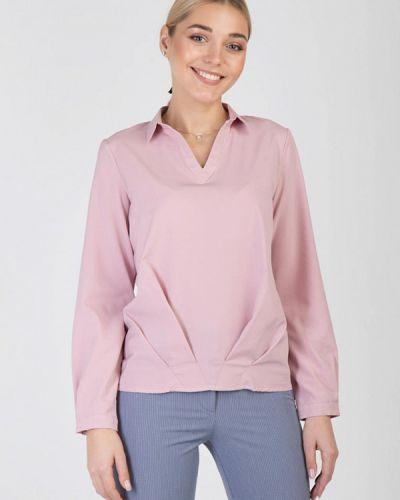 Блузка с длинным рукавом розовая весенний Das
