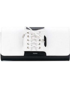 Кожаный белый корсет на шнуровке Perrin Paris
