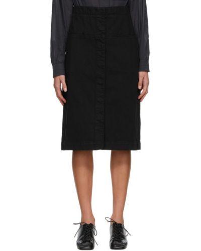 Prosto niebieski spódnica ołówkowa z kieszeniami Lemaire