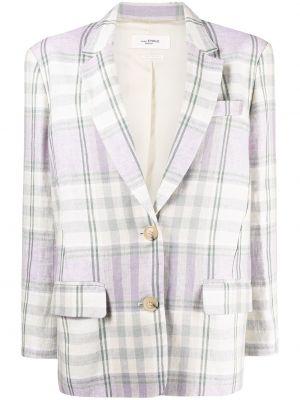 Льняной малиновый классический пиджак оверсайз Isabel Marant étoile