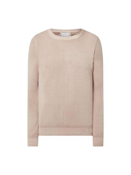 Prążkowany różowy sweter dzianinowy Baldessarini