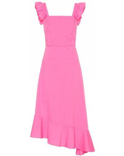 Летнее платье розовое из поплина Staud