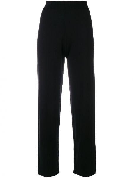 Шелковые черные укороченные брюки с поясом свободного кроя Sottomettimi