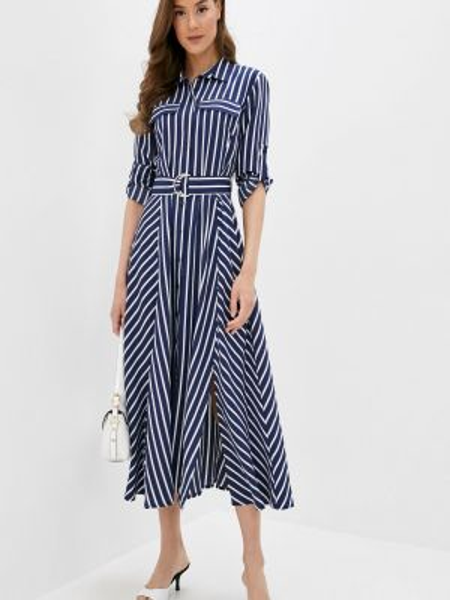 Платье платье-рубашка синее Villagi