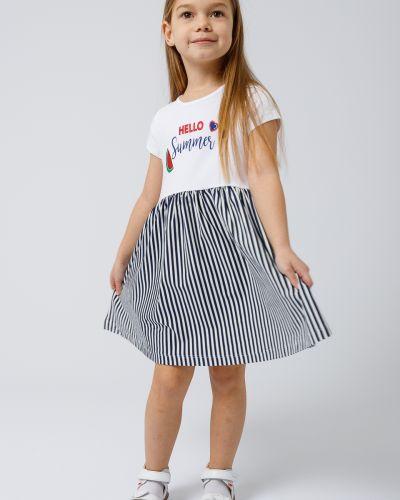 Хлопковое белое платье с короткими рукавами Wanex