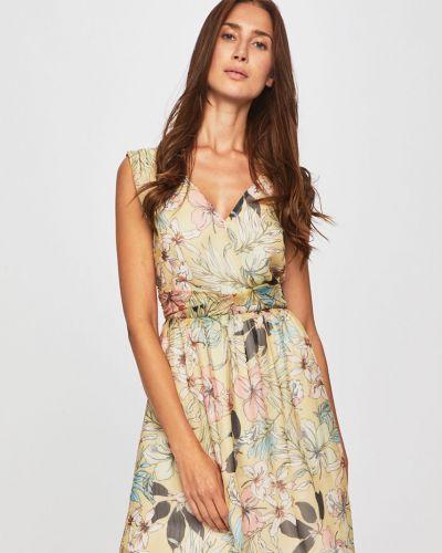 Платье расклешенное с V-образным вырезом Morgan