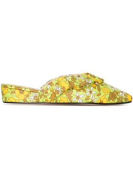 Kapcie na koturnie - żółte Olivia Morris At Home