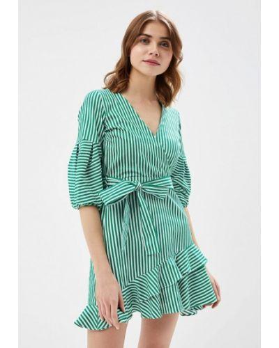 Зеленое платье льняное River Island