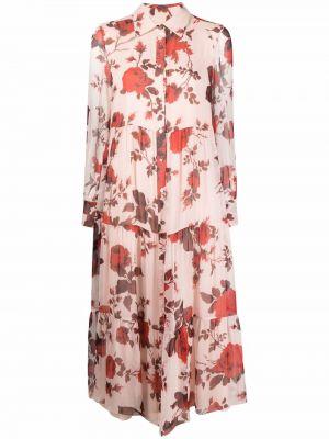 Шелковое платье макси - розовое Erdem