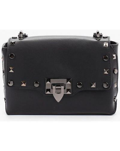 Кожаная сумка через плечо черная Giulia Monti