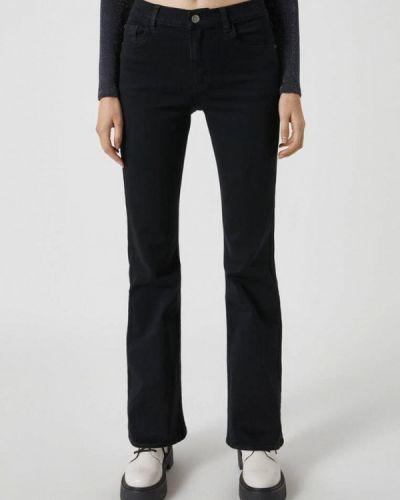 Широкие джинсы - черные Pull&bear