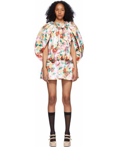 Satynowa sukienka mini krótki rękaw Shushu/tong