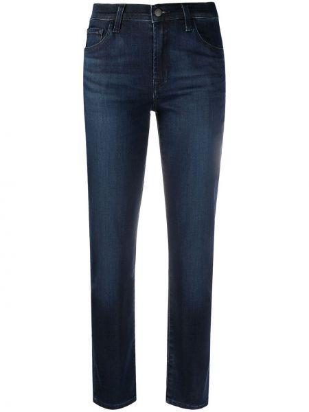 Синие зауженные джинсы-скинни с карманами J Brand