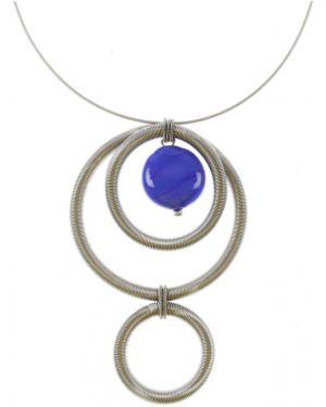 Niebieski naszyjnik perły Antares Venezia