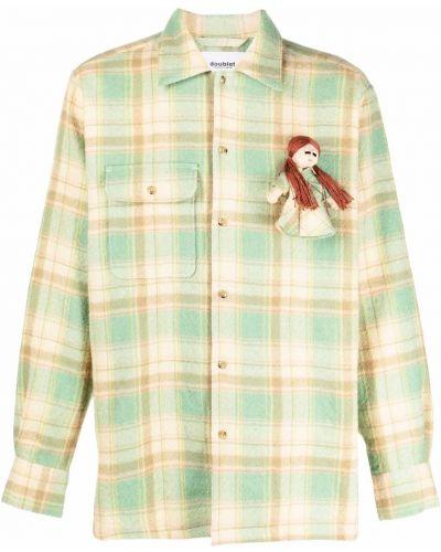 Beżowa koszula z długimi rękawami Doublet
