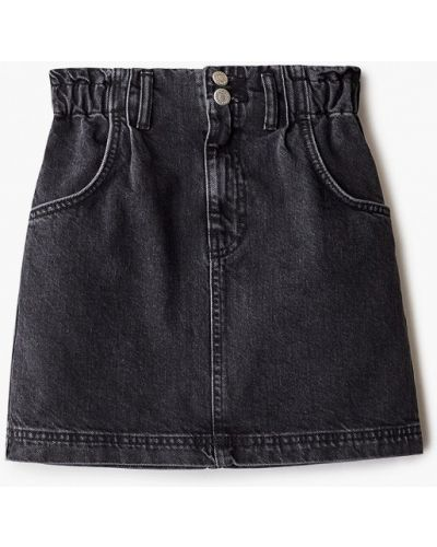 Серая джинсовая юбка Topshop