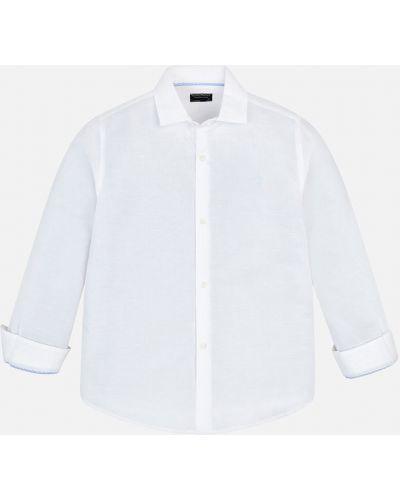 Рубашка льняной белая Mayoral