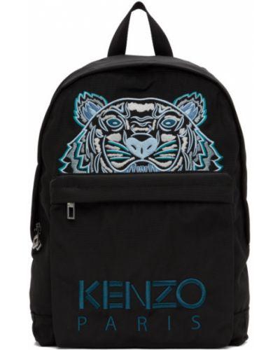 Нейлоновый черный рюкзак с вышивкой Kenzo