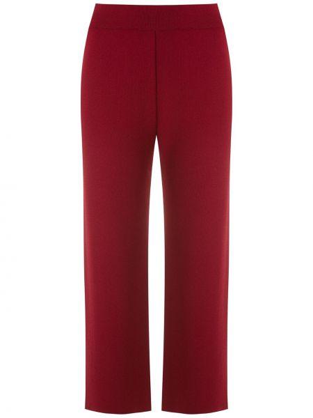 Красные трикотажные брюки эластичные Egrey
