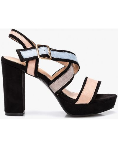 Туфли на каблуке текстильные Answear