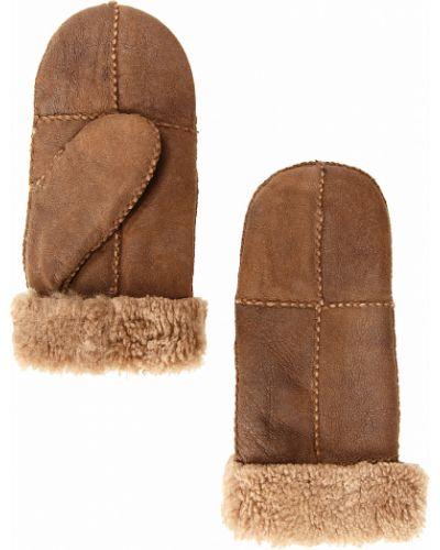 Перчатки из овчины темно-коричневый Finn Flare