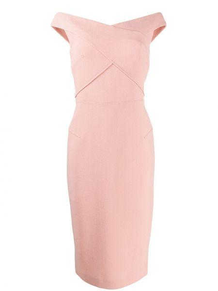Платье миди на молнии с открытыми плечами Roland Mouret