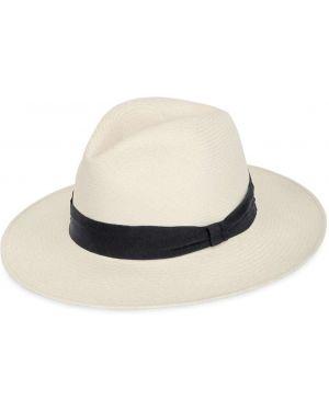 Соломенная белая шляпа соломенная свободного кроя Frescobol Carioca