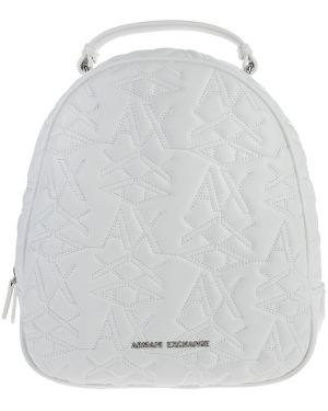 Стеганый белый рюкзак на бретелях Armani Exchange