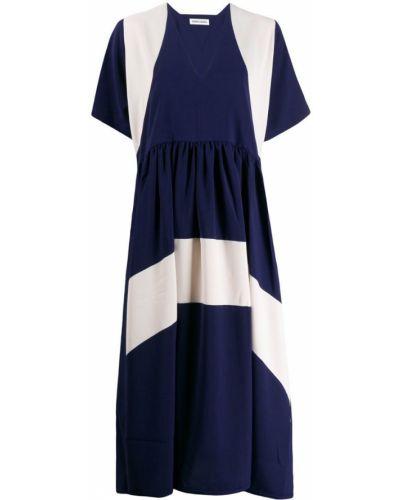 Платье макси с V-образным вырезом платье-майка Henrik Vibskov