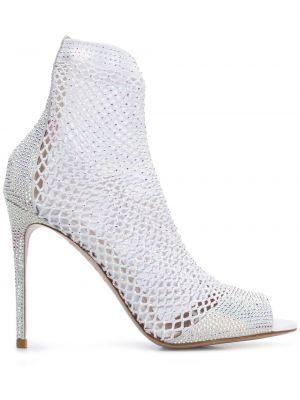 Босоножки на каблуке - белые Le Silla