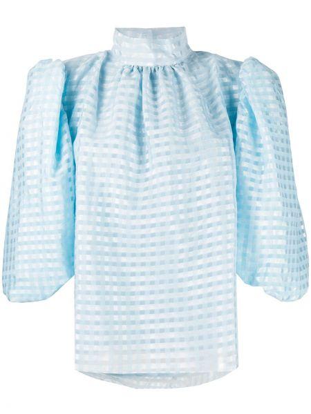 С рукавами синяя блузка Stine Goya