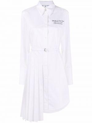 Платье макси с длинными рукавами - белое Off-white